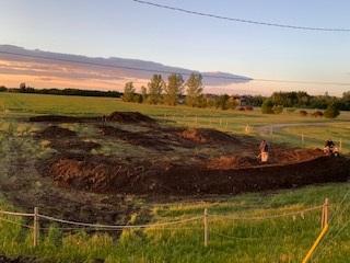 bike park near completion