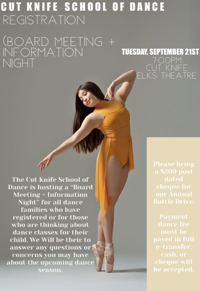 dance registration - board meeting and info night