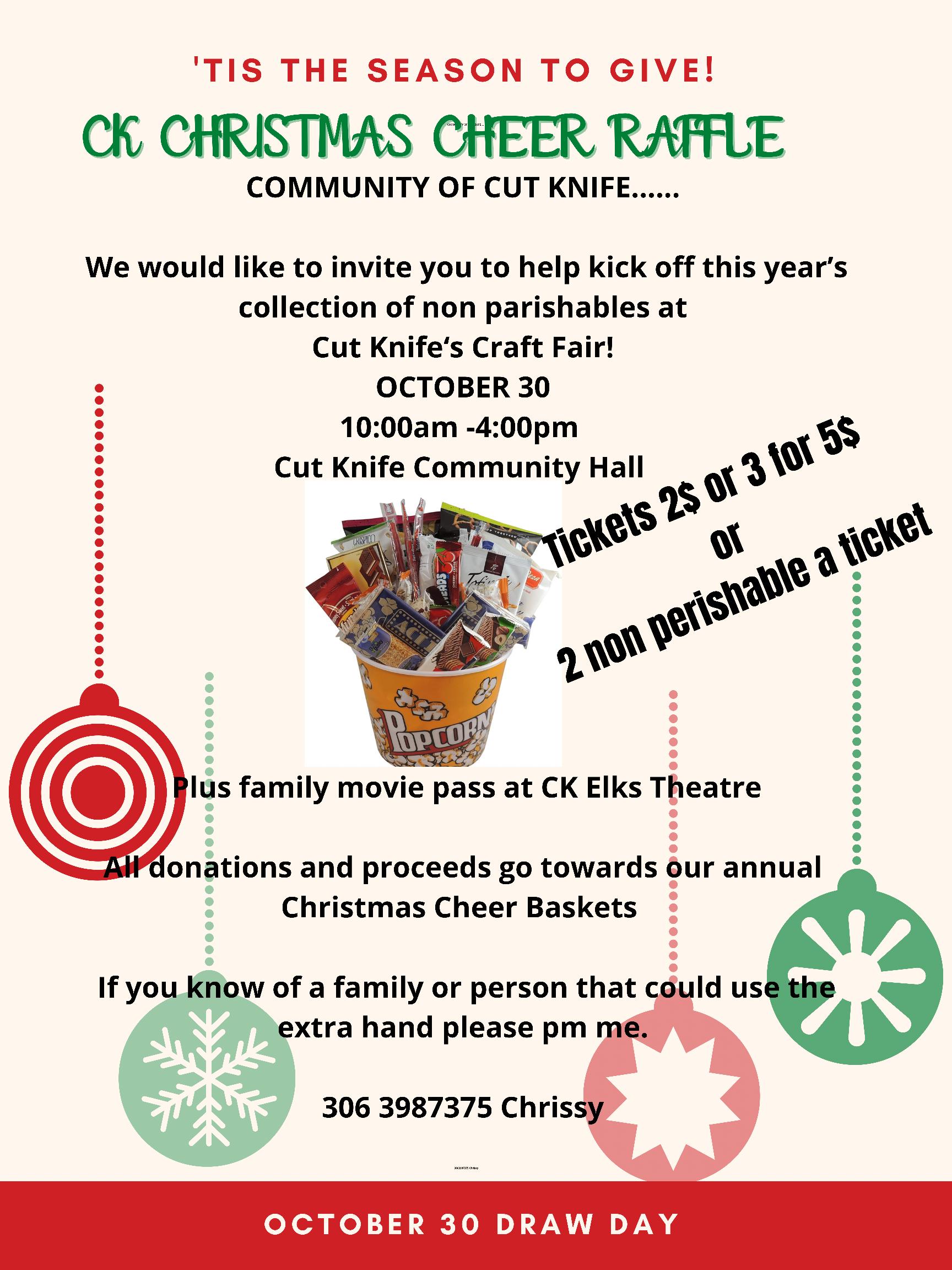 CK Christmas Cheer Raffle poster